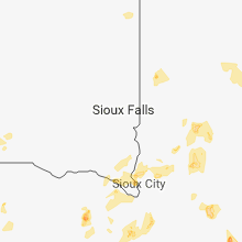 Regional Hail Map for Sioux Falls, SD - Sunday, June 24, 2018