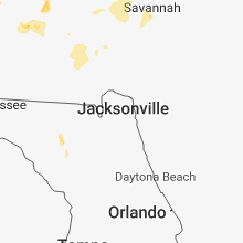 Regional Hail Map for Jacksonville, FL - Monday, June 25, 2018