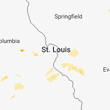 Regional Hail Map for Saint Louis, MO - Monday, June 25, 2018