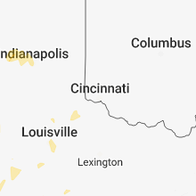 Hail Map for cincinnati-oh 2018-06-26