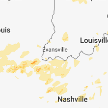 Regional Hail Map for Evansville, IN - Tuesday, June 26, 2018
