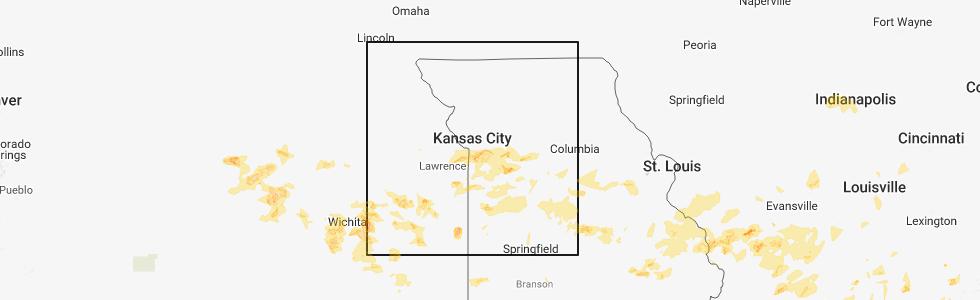 Lenexa Kansas Map.Interactive Hail Maps Hail Map For Lenexa Ks