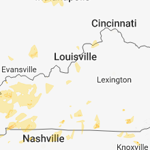 Regional Hail Map for Louisville, KY - Tuesday, June 26, 2018