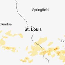 Regional Hail Map for Saint Louis, MO - Tuesday, June 26, 2018