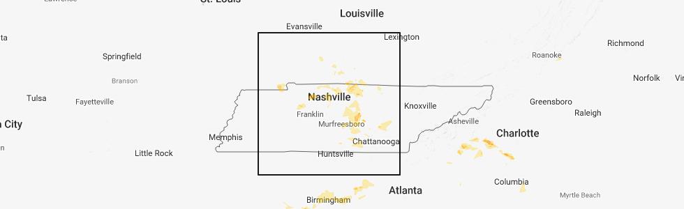 Interactive Hail Maps - Hail Map for Cedar Hill, TN on
