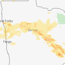 Hail Map for bemidji-mn 2018-06-28