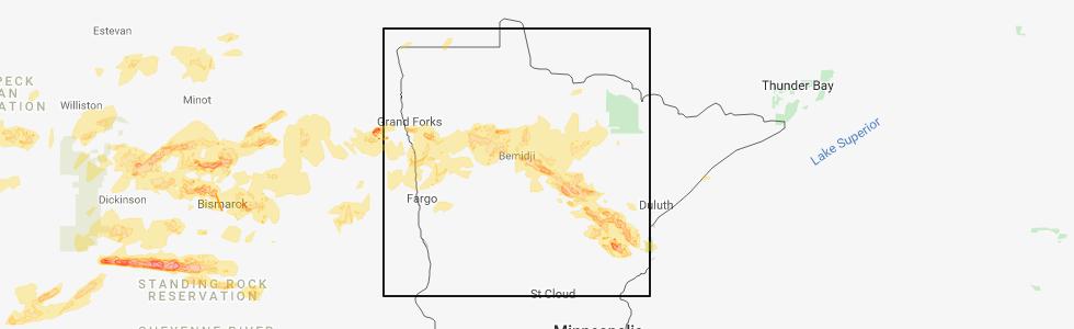 Red Lake Minnesota Map.Interactive Hail Maps Hail Map For Red Lake Mn