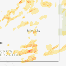Hail Map for miles-city-mt 2018-06-28