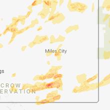 Regional Hail Map for Miles City, MT - Thursday, June 28, 2018