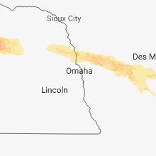 Regional Hail Map for Omaha, NE - Thursday, June 28, 2018