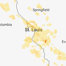 Regional Hail Map for Saint Louis, MO - Thursday, June 28, 2018