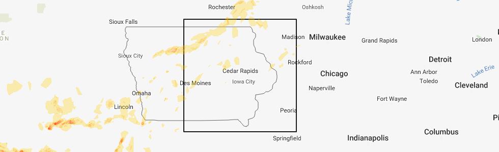 Hail Map for Cedar Rapids, IA - Saay, June 30, 2018 Cedar Rapids Iowa Map on