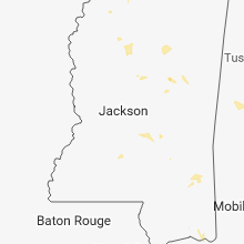 Regional Hail Map for Jackson, MS - Saturday, June 30, 2018