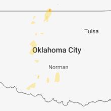 Regional Hail Map for Oklahoma City, OK - Saturday, June 30, 2018
