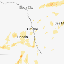 Regional Hail Map for Omaha, NE - Saturday, June 30, 2018