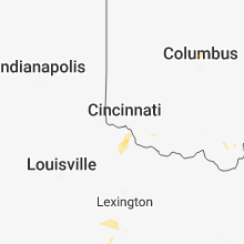 Regional Hail Map for Cincinnati, OH - Sunday, July 1, 2018