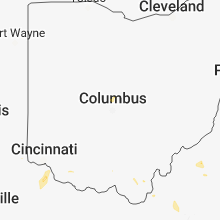 Regional Hail Map for Columbus, OH - Sunday, July 1, 2018