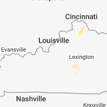 Regional Hail Map for Louisville, KY - Sunday, July 1, 2018