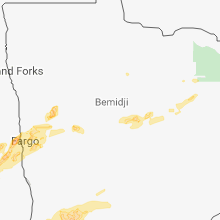 Regional Hail Map for Bemidji, MN - Monday, July 2, 2018
