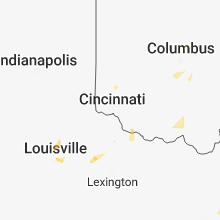 Hail Map for cincinnati-oh 2018-07-02