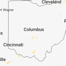 Regional Hail Map for Columbus, OH - Monday, July 2, 2018