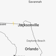 Regional Hail Map for Jacksonville, FL - Monday, July 2, 2018