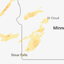 Regional Hail Map for Montevideo, MN - Monday, July 2, 2018