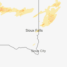 Regional Hail Map for Sioux Falls, SD - Monday, July 2, 2018