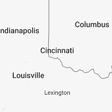 Regional Hail Map for Cincinnati, OH - Tuesday, July 3, 2018