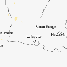 Regional Hail Map for Lafayette, LA - Tuesday, July 3, 2018