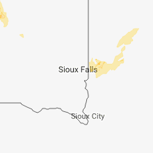 Regional Hail Map for Sioux Falls, SD - Tuesday, July 3, 2018