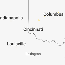 Hail Map for cincinnati-oh 2018-07-04