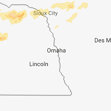 Regional Hail Map for Omaha, NE - Wednesday, July 4, 2018