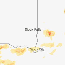 Regional Hail Map for Sioux Falls, SD - Wednesday, July 4, 2018