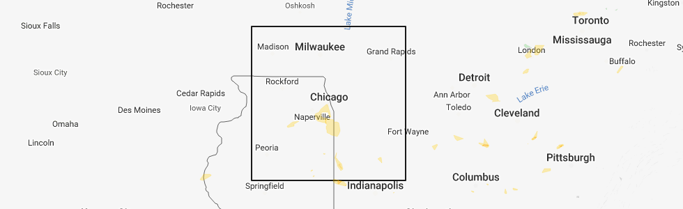 Interactive Hail Maps - Hail Map for Chicago, IL