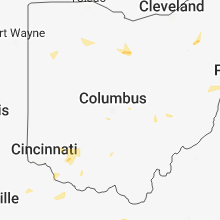 Regional Hail Map for Columbus, OH - Thursday, July 5, 2018