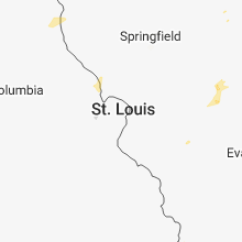 Regional Hail Map for Saint Louis, MO - Thursday, July 5, 2018