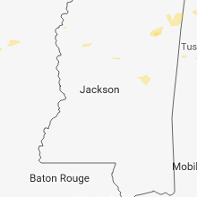Regional Hail Map for Jackson, MS - Friday, July 6, 2018