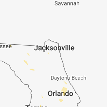 Regional Hail Map for Jacksonville, FL - Friday, July 6, 2018
