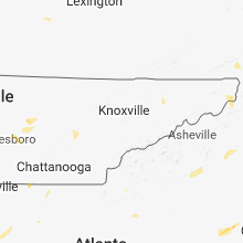 Regional Hail Map for Knoxville, TN - Friday, July 6, 2018