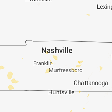 Regional Hail Map for Nashville, TN - Friday, July 6, 2018