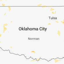 Regional Hail Map for Oklahoma City, OK - Friday, July 6, 2018