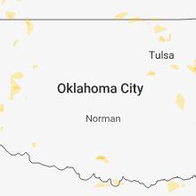 Regional Hail Map for Oklahoma City, OK - Friday, July 6, 2018