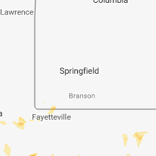 Regional Hail Map for Springfield, MO - Friday, July 6, 2018