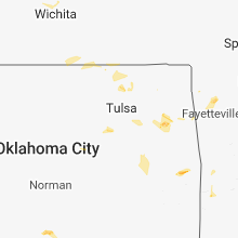 Regional Hail Map for Tulsa, OK - Friday, July 6, 2018