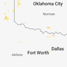 Regional Hail Map for Wichita Falls, TX - Friday, July 6, 2018