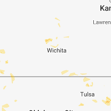 Regional Hail Map for Wichita, KS - Friday, July 6, 2018