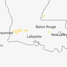 Regional Hail Map for Lafayette, LA - Saturday, July 7, 2018