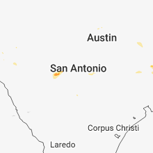 Regional Hail Map for San Antonio, TX - Saturday, July 7, 2018