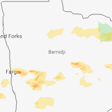 Regional Hail Map for Bemidji, MN - Sunday, July 8, 2018
